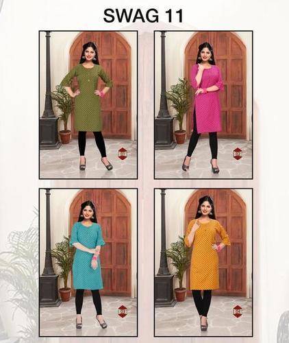 Trendy Swag 11 Rayon Printed Kurtis