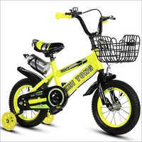 7601 Light Yellow Kid Bike With Bottle