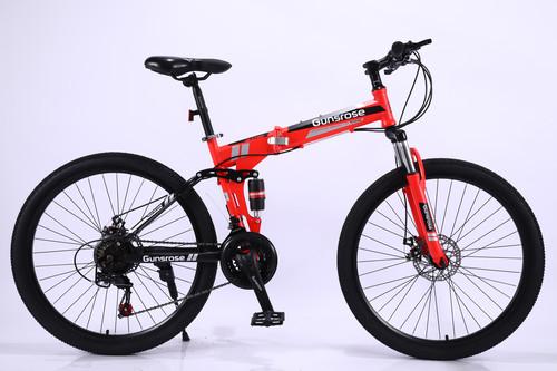 26 Inch Orange Foldable Mountain Bike