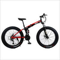 Red Foldable Snow Bike