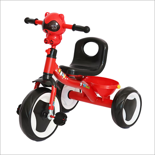 Red Tricycle With Music Basket