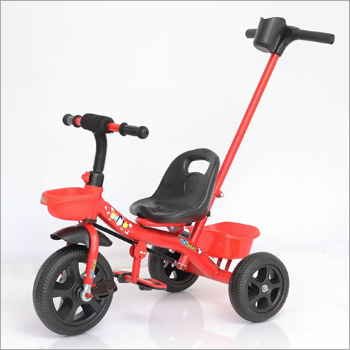 Red Tricycle With Push Handle