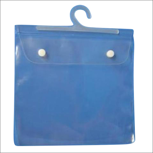PVC Hanger Bag with White Button