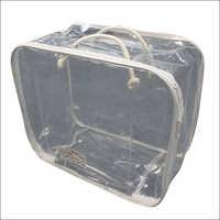 Transparent PVC Zipper Blanket Bag
