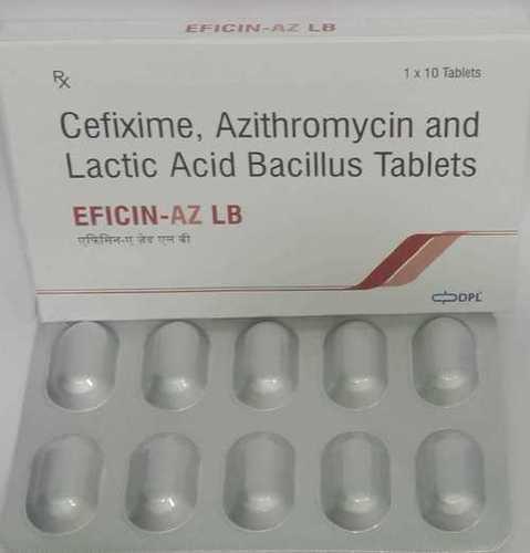 CEFIXIME+AZITHROMYCIN +LACTIC ACID BACILLUS