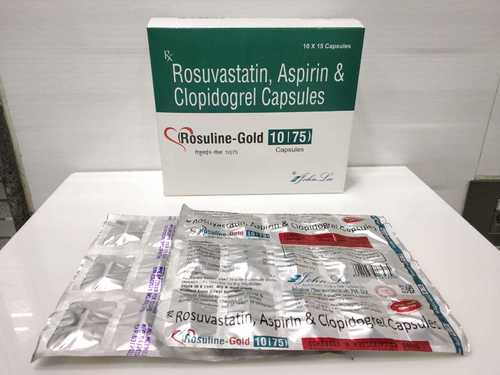 Rosuvastatin Calcium 10 MG + Aspirin 75 MG + Clopidogrel 75 MG