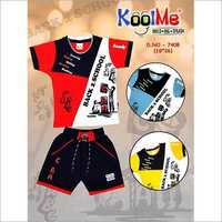 Boys Casual Round Neck Baba Suit