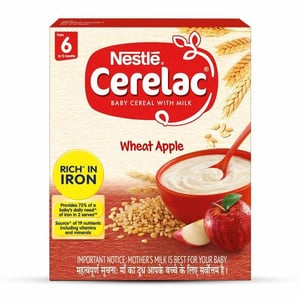 Nestle Cerelac Baby Cereal With Milk, Wheat Apple - 300g