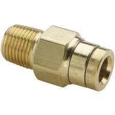 Brass Push To Lock Male Connector