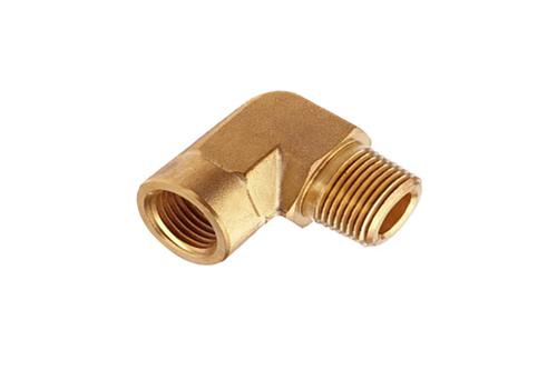 Brass Push To Lock Stud Elbow