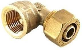Brass Push to Lock Female Elbow