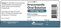 Itraconazole oral solution