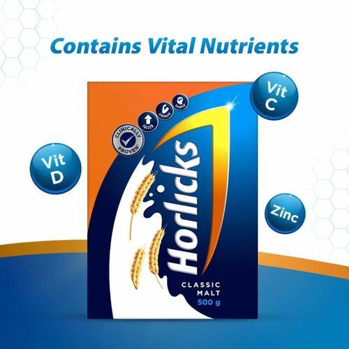 Horlicks Health & Nutrition Drink Classic Malt - 500g