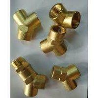 Brass Push to Lock Union Y