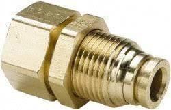 Brass Push To Lock Bulkhead