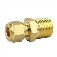 Brass Double Ferrule Male Connector