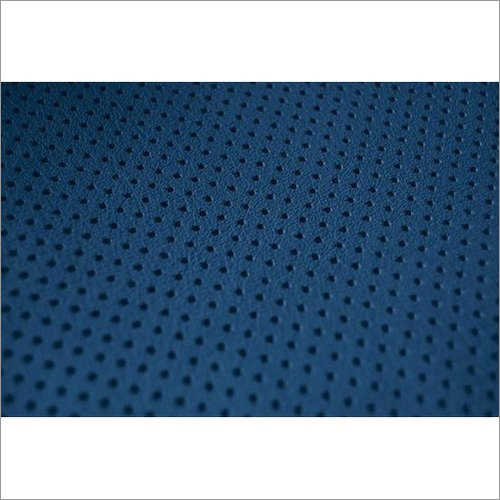 Chrome Suede Perforated Leather