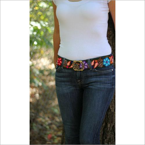Ladies Embroidered Belt
