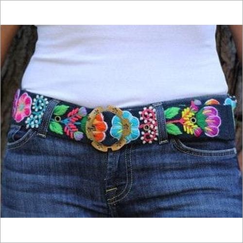Ladies Hand Embroidered Belt