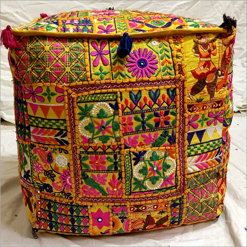 Fine Embroidered Pouf