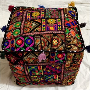 Rajasthani Embroidered Pouf
