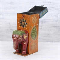 Handcrafted Wooden Hand Painted Box