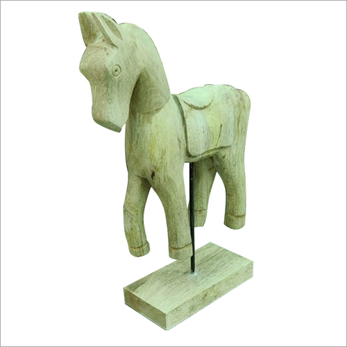 Wooden Horse With Stand