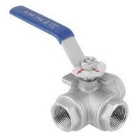 Stainless Steel 3 Way Ball Valve Female To Female