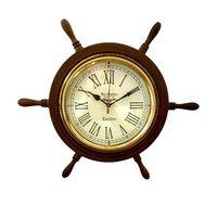 Wheel Style Wooden Wall Clock