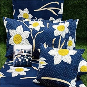 Double Bedsheet With Cushion Set