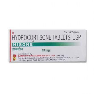 HYDROCORTISONE 20 MG TABLET (HISONE)