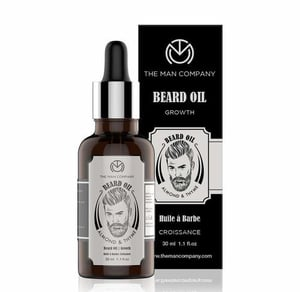 Beard Oil For Growing Beard Faster With Almond & Thyme, 100% Natural  For Men - 30ml