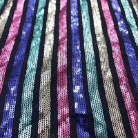 FAUX GEORGETTE ALL OVER SEQUENCE MULTI THREAD MACHINE EMBROIDERY