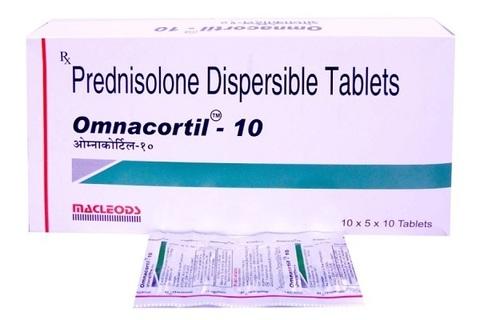PREDNISOLONE 10 MG TABLET (OMNACORTIL)