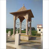 Stone Chhatri Heavy Pillars 6 Ft