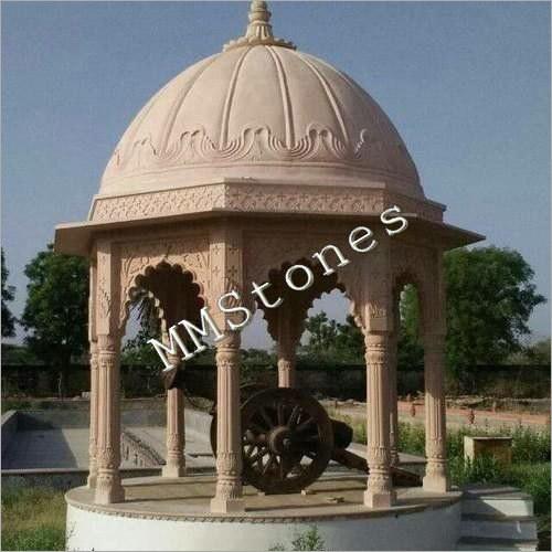 Stone Chatri 8 Pillars
