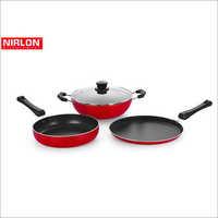 Nirlon 240mm Non Stick Aluminum Cookware Set