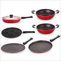 Nirlon Non Stick Aluminum Cookware Utensils Set with Lid