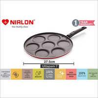 Nirlon Non Stick Pancake Maker Uttapam Maker 7 Cavity Tawa 27.5 Cm Diameter