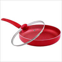Nirlon Non-Stick Fry Pan Red Velvet Induction Base (With Glass LiD)