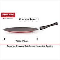 Nirlon Non Stick Aluminium RotiChapathiParatha Concave Tawa, 27.5cm, Gas Stove Compatible Only