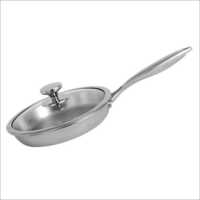 20 Cm Nirlon Platinum Tri-Ply Stainless Steel Fry Pan With Glass Lid