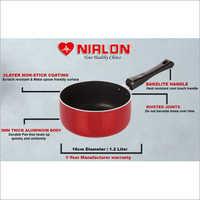 Nirlon Non Stick Aluminium Sauce Pan-16
