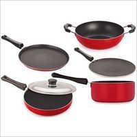 Nirlon Black Non Stick Aluminum Cookware Set