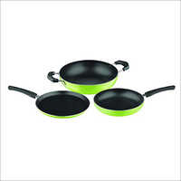 Nirlon Nonstick Green Cookware Set