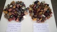 Natural mix color high glossy polished stone crushed chips & aggregate gravels