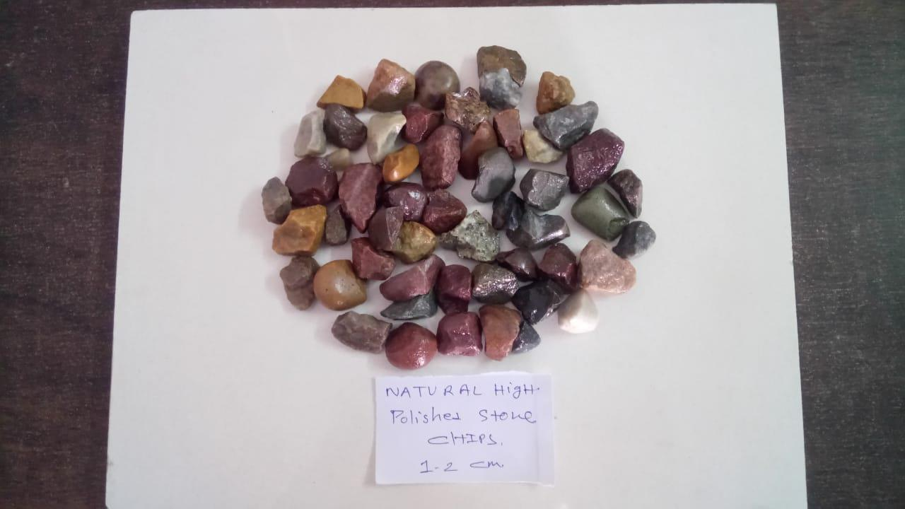 river stone crushed and polished gravels and chips for landscape and commercial application