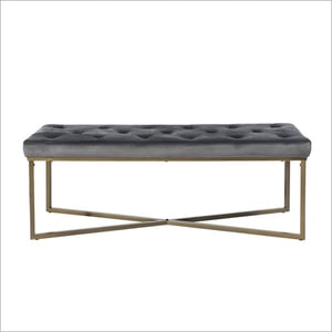 Gold And Grey Long Cross Bench