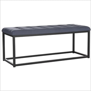 Metal Rectangle Bench With Foam