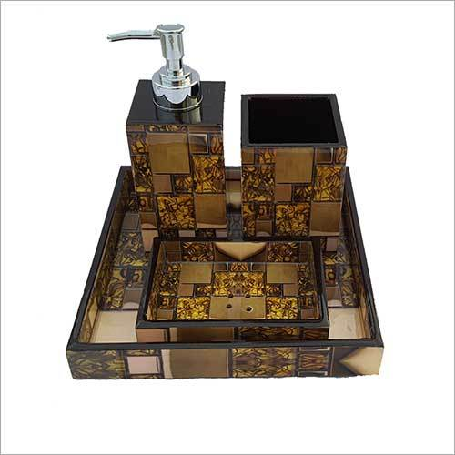 Handcrafted Resinepoxy Bathroom Set